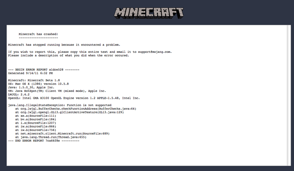 Minecraft fix to all OpenGL problem and error full crash solved